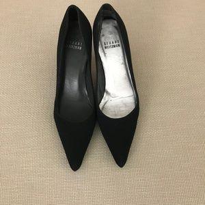 Stuart Weitzman: Black Pointed Toe Heels (Size 4.5